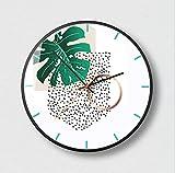 LZCHA Orologio da Parete Soggiorno personalità Moda Creativa Moderna E Minimalista Rotonda Nordic Art Style Home Orologio Atmosferico