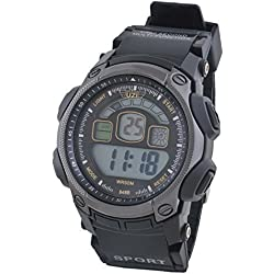 UZI Digital Sports Watch - Mans Wristwatch with Alarm - Waterproof to 30 Metres - Back Light