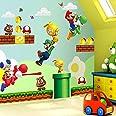 Lizhioo 100 vellen 3D muursticker Super Mario Bros muurschildering muursticker afneembare vinyl sticker kinderen kinderkamer