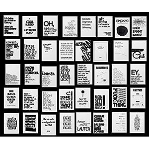 Paket 40 Postkarten mit lustigen Sprüchen | Cooles Design | Für jede Lebenslage: Motivation Arbeit Party Alter Stress Familie Gelassenheit & Liebe