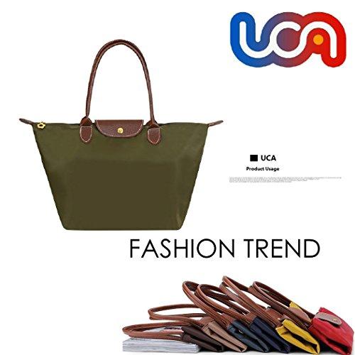 UCA Bolsa Multiusos Plegable de compra para mujer,color verde