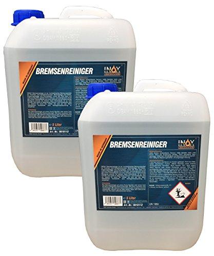 INOX Bremsenreiniger 2x 5 Liter, acentonfrei - Bremsscheibenreiniger für Kfz