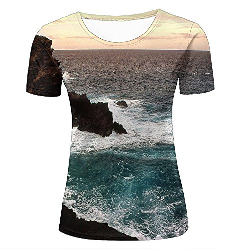 qianyishop Mens Womens Casual Design 3D Printed Blackrock Australia Graphic Short Sleeve Couple T-Shirts Top Tee S (Sleeve Bamboo Short Tee)