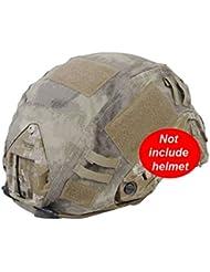 Worldshopping4U militar Caza Gear Combate Rápida Casco PJ Bj Base Jump camuflaje casco, diseño de Army Tactical Airsoft, Paintball, sin casco, 4colores en FG, camuflaje, Digital, Desierto, de camuflaje, Atacs