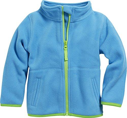 Schnizler Unisex Baby Jacke Fleecejacke, Babyjacke mit Kontrastnähten, Türkis (Aquablau 23), 74