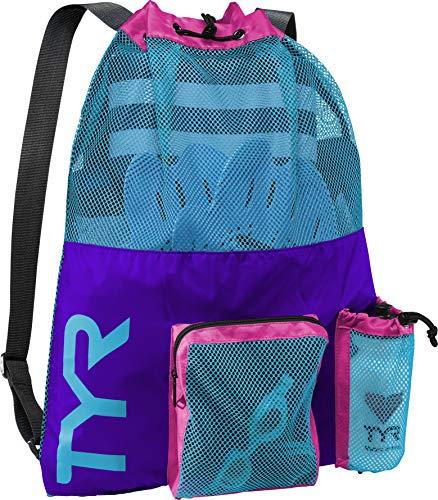 TYR Unisex Big Mesh Mummy Rucksack Tasche, Purple/Blue/Pink, Einheitsgröße - Blue Rucksack Tasche