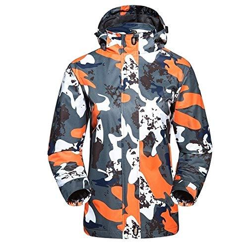 8724efedfef Winter Outdoor Lovers Camouflage Printed Snowboard-Jacke Der Männer Windundurchlässige Hoodie Wandern Jacke Frauen Sportswear Ski Coats (Color : Women orange, Size : XXL)