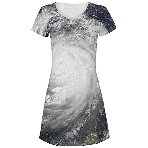 Halloween Golf Küste Hurrikan Kostüm All Over Juniors Beach Cover-up Kleid Multi (Halloween Kostüme Golf)