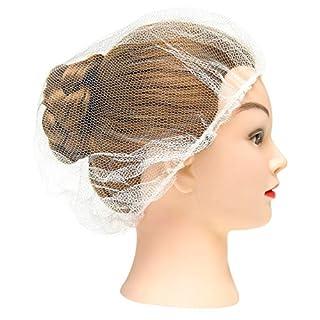 100 Pack White Nylon Hairnets 21