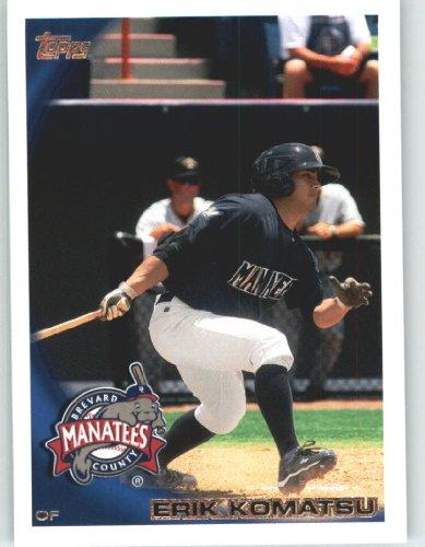 2010-topps-pro-debut-baseball-card-377-erik-komatsu-brevard-county-manatees-milb-prospect-rookie-car