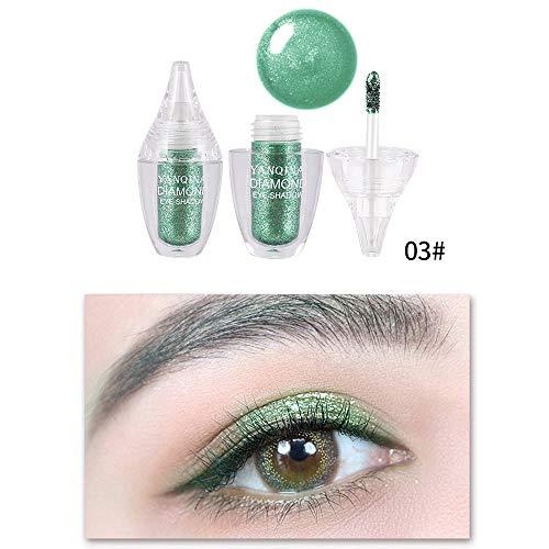 6 Farbe Quaan Metallisch Glänzend Rauchig Augen Lidschatten Wasserdicht Funkeln Flüssigkeit Eyeliner