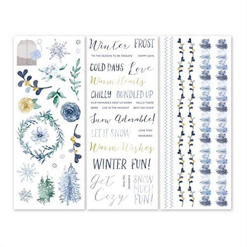 Creative Memories Winterfrost Aufkleber-Set für Frost Album-Serie, 3 Stück