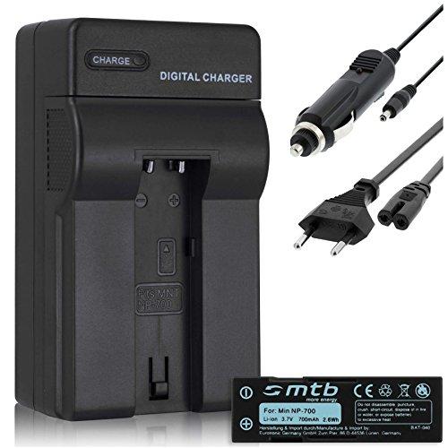 Akku + Ladegerät (KFZ, Netz) für Konica Minolta Dimage X50, X60 / Samsung L77 / Sanyo VPC-A5 / Pentax Optio Z10 (Z10 Akku-ladegerät)