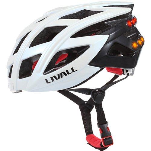 Livall BH60WH Fahrradhelm Bling Unisex, Weiß (White), M/L