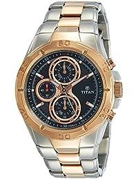 Titan Octane Chronograph Black Dial Men's Watch -NK9308KM02