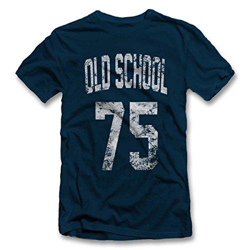 Oldschool 1975 T-Shirt S-XXL 12 Colori / Colours Blu Oltremare