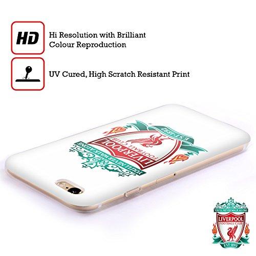 Offizielle Liverpool Football Club Schwarz 2 Crest 1 Soft Gel Hülle für Apple iPhone 6 / 6s Weiss 1