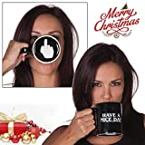 WoW STORE  - Tazza spiritosa con dito medio sul fondo per caffè, latte, succo di frutta o tè - Have a nice day