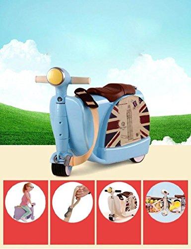 Yideli Kinder Trolley-Tasche Spielzeug Spielzeug Aufbewahrungsbox Koffer kann Fahrt für Kinder im Alter von 3 bis 6 Umweltschutz ABS-Kunststoff Red