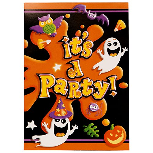 Einladungen Halloween (Splash Halloween Einladungen, 8ct)