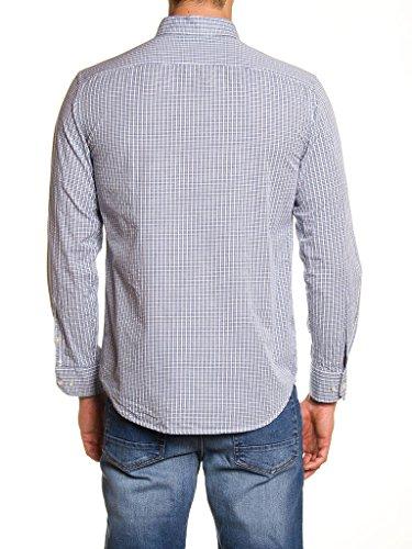 Carrera Jeans - Hemd 213A1230A für mann, garn gefärbt, regular fit, langarm A20 - Garn Gefärbt Überprüft Fancy Weiß-Blau