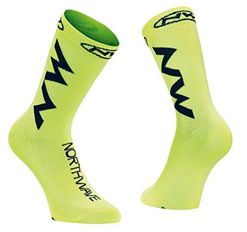 Northwave Extreme Air Fahrrad Socken gelb/schwarz 2018: Größe: M (40-43)
