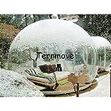 XuBa Gonfiabile tendone per Eventi, Gonfiabile Bubble Tende per affitto, Air Campeggio Struttura Esterna, Clear Top Gazebo Tenda da Giardino, Trasparente, 0.3mm PVC Tent
