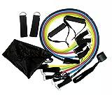 Triecoworld Lot de bandes de résistance d'exercices, fitness Bandes de résistance avec ensemble de 5Tubes de fitness/poignées/crochet de porte/Sangles de cheville/étui de transport/guides d'entraînement, le meilleur pour hommes, femmes
