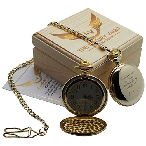 tom-waits-signed-gold-pocket-watch-24-carat-gold-coated-full-hunter-with-chain-luxury-gift-case