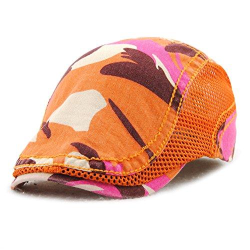 Schirmmütze HOMEFEEL Unisex Sportmütze Tarnung Kappe mit Netzstruktur Flat Cap für Teenager und Erwachsene
