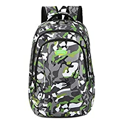 Super Modern Unisex Nylon School Backpack Laptop Bag For Teen Girls & Boys Cool Sports Backpack Christmas Gift Bag Camo Student Bag Travel Backpack