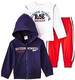Dirkje Baby-Jungen Unterwäsche-Set 3-PCE Babysuit, Mehrfarbig (Navy/White/Red), (Herstellergröße: 62)