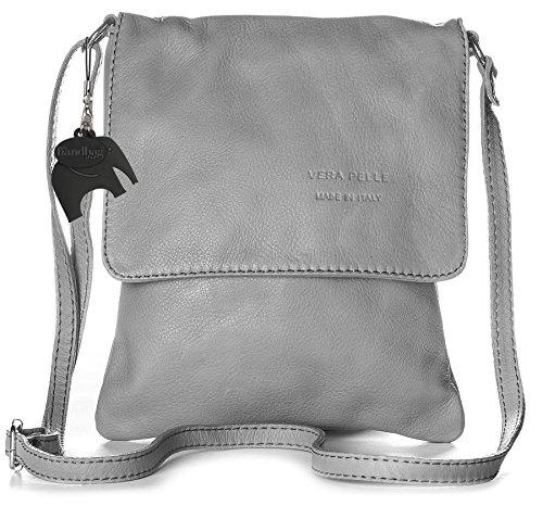 Big Handbag Shop - Borsa a tracolla donna Grigio (Grigio)