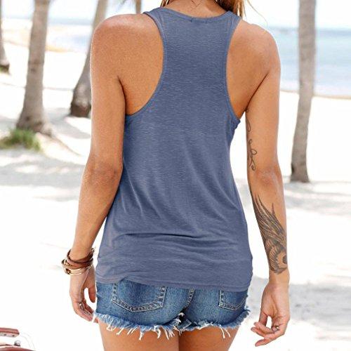 ESAILQ Damen Glitzer Spitzenbluse Tailliert Schlupfbluse Stretch Chiffon Gepunktet Blau Coole Blusen für Damen Klassische Hellblau Schlupfbluse (XL,Blau) - 2