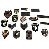 Welecom 18piezas mezcla diseño de militar ejército bordado parches apliques