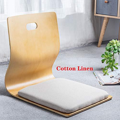 XIAOMEI Tatami Fußboden Stuhl Mit Rückenstütze,japanische Stühle Holz Rückenlehne Legless Stuhl Sitzkissen Tragbarer Faul Liege Gepolsterte Erwachsene Bett-g