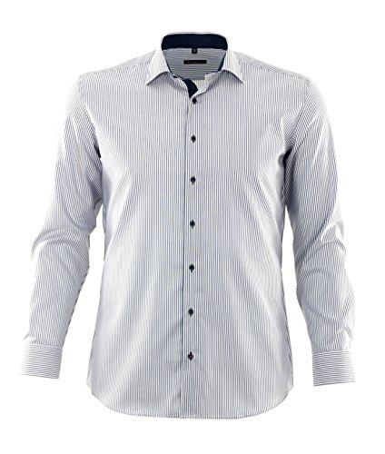 eterna -  Camicia classiche  - A righe - Classico  - Uomo Blau