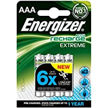 Energizer NiMH Pile Ricaricabili AAA Micro 800 mAh, Confezione da 4