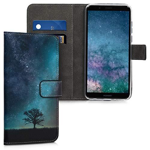 kwmobile Huawei Y7 (2018)/Y7 Prime (2018) Hülle - Kunstleder Wallet Case für Huawei Y7 (2018)/Y7 Prime (2018) mit Kartenfächern und Stand