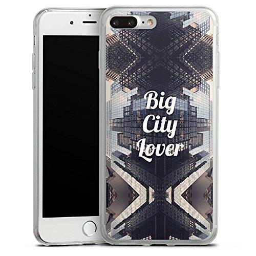 Apple iPhone 8 Slim Case Silikon Hülle Schutzhülle City Hochhaus Statement Silikon Slim Case transparent