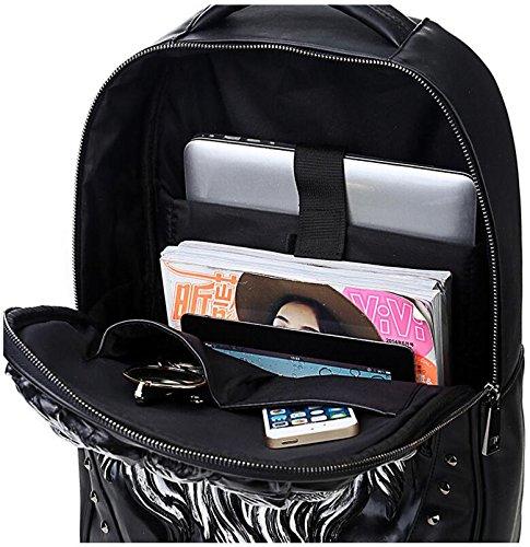 Zaino Punk Rivet Outdoor Backpack 20-35 Litri Nero