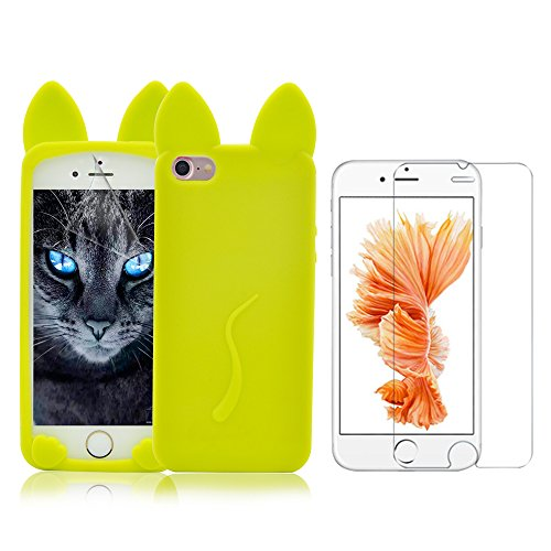 Cover per iPhone 7 Dog,Cover per iPhone 7,Bonice Layer 3 Crystal Clear Trasparente Ultra Sottile Silicone Soft Morbido TPU Cristallo Protettiva Gel Cover Custodia Chic Crystal Clear Case Super Sottile Modello 19