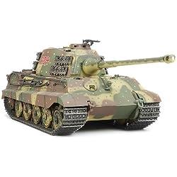 Tamiya King Tiger - RC- Vehículos militares terrestres (Nickel-Cadmium (NiCd), Tanque de juguete)