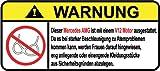 Mercedes AMG V12 Motor German Lustig Warnung Aufkleber Decal Sticker