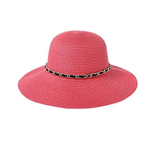 qz Chapeau de Soleil Chapeau De Dames Summer Seaside Sunbath Hood Capuche De Plage Pliable ( Couleur : Noir ) Pastèque rouge