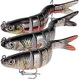 Esche da Pesca Sinking Wobblers Multi snodato Swimbait Pike richiamo Duro Esche Attrezzatura di Pesca per la spigola Trota Pesca Isca Carp, J8A01-02-03-3PCS