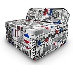 Natalia Spzoo Matelas lit Fauteuil futon Pliable Pliant Choix des Couleurs - Longueur 200 cm (Paris)