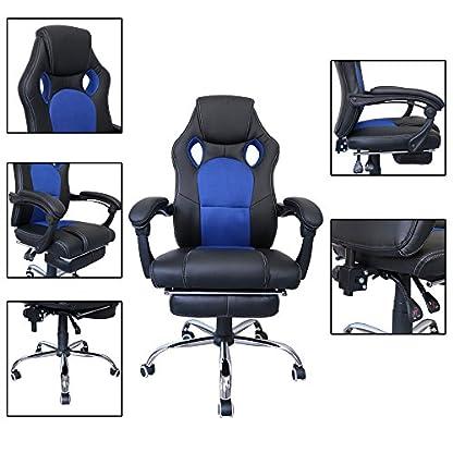 51koRs1obtL. SS416  - huigou HG® Silla Giratoria De Oficina Gaming Chair Apoyabrazos Acolchados Premium Comfort Silla Racing De Carga Altura Ajustable
