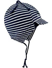 EveryHead Fiebig Bonnet De Bébé À Lanières Chapeau Garçon Cap Jersey  Casquette Visière Coton Strié Avec 76340a7454c