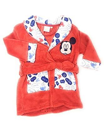 albornoz bata pijama bebe Mickey Mouse. Tejido coral